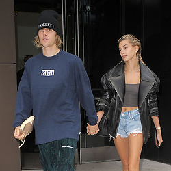 Justin Bieber and Hailey Baldwin are seen in New York City, USA