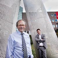 Nederland, Goes, 7 juli 2014.<br /> Bram de Jonge, algemeen directeur en Marinus Schroevers, directeur<br /> <br />   Verzekeringszaken van ZLM in Goes<br /> Foto:Jean-Pierre Jans