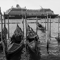 Big ships  in Venice - Black and White<br />