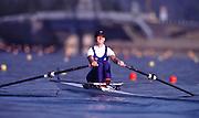 © Peter Spurrier Sports Photo.PH 44 (0) 973 819 551.e-mail rowingpics@aol.com..Sydney Olympic Games 2000.Penrith Lakes - Penrith - NSW - Australia..Women's single heats GBR W1X Alison Mowbray 2000 Olympic Regatta Sydney International Regatta Centre (SIRC) 2000 Olympic Rowing Regatta00085138.tif