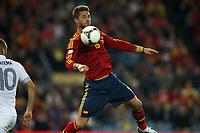 FOOTBALL - FIFA WORLD CUP 2014 - QUALIFYING - SPAIN v FRANCE - 16/10/2012 - PHOTO MANUEL BLONDEAU / AOP PRESS / DPPI - SERGIO RAMOS
