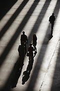 Shadows, entry hall of Tate Modern Gallery, London, UK