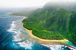 Ke`e Beach or Kee Beach, Kauai, Hawaii, Pacific Ocean