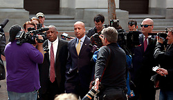 20 February 2013. New Orleans, Louisiana,  USA. .Ray Nagin, former mayor of New Orleans appears at the New Orleans Federal Courthouse where he faces arraignment on 21counts of corruption including  bribery, conspiracy, money laundering, wire fraud . .Photo; Charlie Varley.