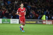 Peter Whittingham of Cardiff city celebrates after he scores his teams 1st goal to make it 1-1. Skybet football league championship match, Cardiff city v Ipswich Town at the Cardiff city stadium in Cardiff, South Wales on Tuesday 21st October 2014<br /> pic by Andrew Orchard, Andrew Orchard sports photography.