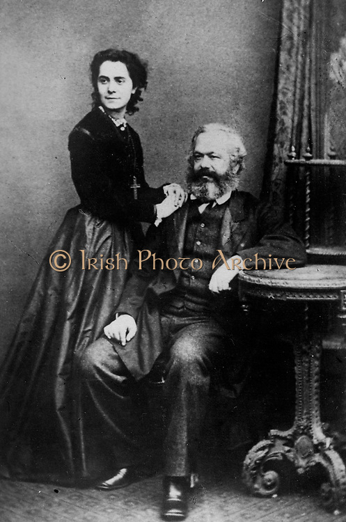 Karl Marx with his daughter Jenny circa 1870