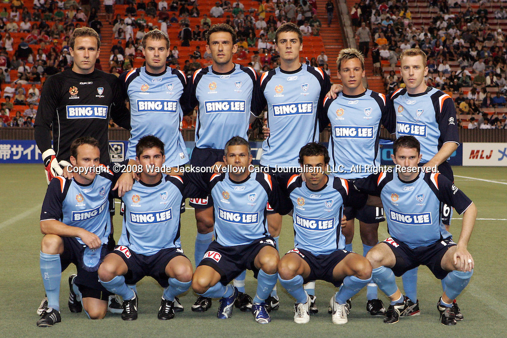 20 February 2008:  The starting eleven for Sydney FC.  The Houston Dynamo of the USA defeated Sydney FC of Australia 3-0 during the second match of the 2008 Pan Pacific Championship held at Aloha Stadium in Honolulu, Hawaii.
