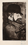 Portrait of Henri de Toulouse-Lautrec by Charles Maurin (French, 1856-1914) France, 19th century Etching and aquatint