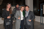 SARAH DOUGLAS; ANNABELLE SELLDORF; TONY CHAMBERS; , Editor of Wallpaper: Tony Chambers and architect Annabelle Selldorf host drinks to celebrate the collaboration between the architect and three of Savile Row's finest: Hardy Amies, Spencer hart and Richard James. Hauser and Wirth Gallery. ( Current show Isa Genzken. ) savile Row. London. 9 January 2012.