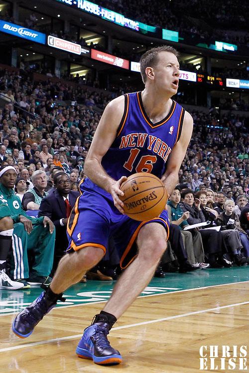 04 March 2012: New York Knicks small forward Steve Novak (16) is seen during the Boston Celtics 115-111 (OT) victory over the New York Knicks at the TD Garden, Boston, Massachusetts, USA.