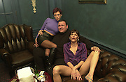 Kathy Cupcake, Steve Marcus and Sarah Stockbridge. Toni & Guy/M & P models party. Mayfair Club. 7 December 2000. © Copyright Photograph by Dafydd Jones 66 Stockwell Park Rd. London SW9 0DA Tel 020 7733 0108 www.dafjones.com