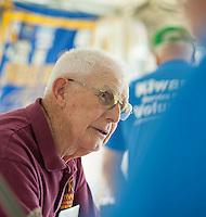 St Johnsbury Chapter President Dexter Willson prepares for the 70th Anniversary celebration of the Kiwanis Pool in St. Johnsbury Vermont.  Karen Bobotas / for Kiwanis International