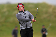 Josh Mackin (Dundalk) on the 18th fairway during Round 3 of the Ulster Boys Championship at Donegal Golf Club, Murvagh, Donegal, Co Donegal on Friday 26th April 2019.<br /> Picture:  Thos Caffrey / www.golffile.ie