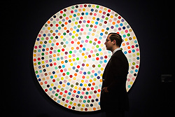 © licensed to London News Pictures. London, UK 21/06/2013. 'Zinc Chloride' by Damien Hirst estimated to be sold for £300,000-500,000 in Christie's upcoming Post-War & Contemporary Art Evening Auction which will take place on June 25, 2013. Auction features with works by Basquiat, Doig, Liechtenstein and Warhol and total estimate is £56-72 million. Photo credit: Tolga Akmen/LNP