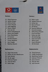 Pretoria, Loftus Versveld Stadium. 13-10-18 Currie Cup Rugby: Blue Bulls vs Western Province. Team sheet.<br /> Picture: Karen Sandison/African News Agency(ANA)