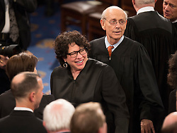 United States Supreme Court Associate Justices Sonia Sotomayor and Stephen G. Breyer arrive to listen to U.S. President Donald J. Trump address a joint session of Congress on Capitol Hill in Washington, DC, USA, February 28, 2017. Photo by Chris Kleponis/CNP/ABACAPRESS.COM
