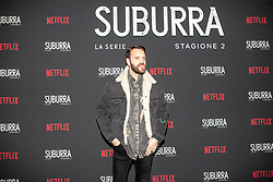 Alessandro Borghi at the Red Carpet of the series Suburra 2 at Circolo Degli Illuminati in Rome, Italy, 20 February 2019 .Dress: Gucci  (Credit Image: © Lucia Casone/Soevermedia via ZUMA Press)