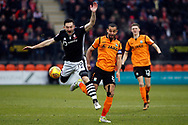 Lee Frecklington of Lincoln City (L) in action with Curtis Weston of Barnet (R). EFL Skybet Football League two match, Barnet v Lincoln City at the Hive in London on Saturday 20th January 2018. <br /> pic by Steffan Bowen, Andrew Orchard sports photography.