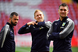 Burnley's Sam Vokes (right) before the game