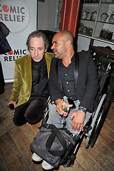 Left to right, HARRY SHEARER and ASH ATALLA at the gala night party of Losing It staring Ruby Wax held at he Menier Chocolate Factory, 51-53 Southwark Street, London SE1 on 23rd February 2011.