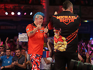 Peter Wright during the PDC BetVictor World Matchplay Darts 2021 tournament at Winter Gardens, Blackpool, United Kingdom on 23 July 2021.