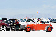 The best cars-people-atmosphere-photos of 2009 Bonneville Speed Week-  An old Roadster in the race fan area. August 9, 2009.  Photos by Colin E. Braley
