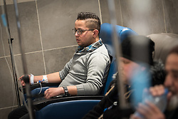 24 February 2020, Jerusalem: 21-year-old Fadi Taqatqa, a stonemason from Bethlehem, receives Chemotherapy treatment at the Augusta Victoria Hospital, after being diagnosed with Leukemia in November 2019.