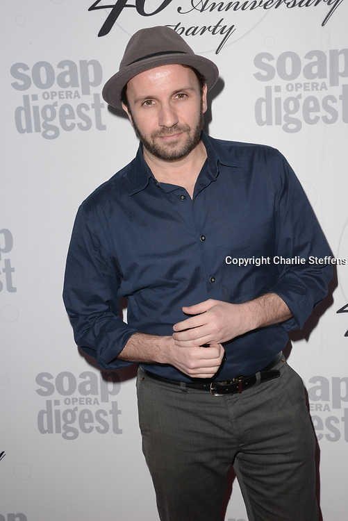 BRAD EVERETT YOUNG at Soap Opera Digest's 40th Anniversary party at The Argyle Hollywood in Los Angeles, California