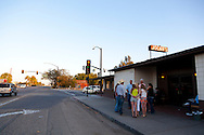 Jocko's Steak House in Nipomo, CA. People waiting in line for dinner.
