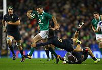 Rugby Union - 2017 Guinness Series (Autumn Internationals) - Ireland vs. Argentina<br /> <br /> Ireland's Rob Kearney evades the tackles of Argentina's Martin Landajo and Ramiro Moyano, at the Aviva Stadium.<br /> <br /> COLORSPORT/KEN SUTTON