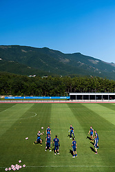 July 4, 2018 - Gelendzhik, Russia - 180704 The Swedish national football team is gathered at a practice session during the FIFA World Cup on July 4, 2018 in Gelendzhik..Photo: Petter Arvidson / BILDBYRN / kod PA / 92081. (Credit Image: © Petter Arvidson/Bildbyran via ZUMA Press)