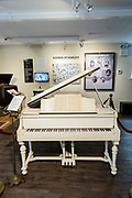 Duke Ellington's piano in the National Museum of Jazz in Harlem.