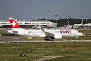 HB-JCE Swiss International Air Lines Bombardier CSeries CS100 (BD-500-1A10) Airbus A220-100 at Malpensa (MXP / LIMC), Milan, Italy