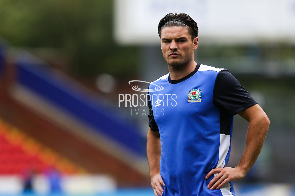Ben Marshall of Blackburn Rovers warms up before the EFL Sky Bet Championship match between Blackburn Rovers and Burton Albion at Ewood Park, Blackburn, England on 20 August 2016. Photo by Simon Brady.