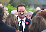 THE FUNERAL SERVICE OF KIRSTY HOWARD THE MANCHESTER BORN FUNDRASER HAS TAKEN PLACE TODAY.....HUNDREDS OF MOURNERS LINED THE STREETS OF MANCHESTER WHERE SHE GREW UP, <br /> <br /> Photo shows: Singer RUSSELL WATSON<br /> ©Exclusivepix Media