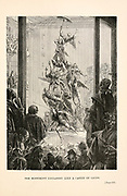 The Monument Collapsed Like a Castle of Cards from the book ' Around the world in eighty days ' by Jules Verne (1828-1905) Translated by Geo. M. Towle, Published in Boston by James. R. Osgood & Co. 1873 First US Edition