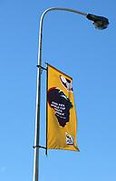 Feature / Reportasje<br /> VM Fotball 2010<br /> Cape Town - Sør Afrika<br /> Foto: Gepa/Digitalsport<br /> NORWAY ONLY<br /> <br /> 02.12.2009<br /> Bild zeigt ein Feature mit einer Fahne an einer Strassenlaterne