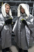 Lotte Juntti and Malin Hogset. Opening of the Absolut Icebar. Heddon St. London. 29 September 2005. ONE TIME USE ONLY - DO NOT ARCHIVE © Copyright Photograph by Dafydd Jones 66 Stockwell Park Rd. London SW9 0DA Tel 020 7733 0108 www.dafjones.com