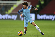 Leroy Sane of Manchester City in action. Premier league match, West Ham Utd v Manchester city at the London Stadium, Queen Elizabeth Olympic Park in London on Wednesday 1st February 2017.<br /> pic by John Patrick Fletcher, Andrew Orchard sports photography.
