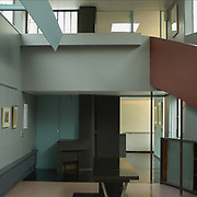 Paris, France, 2004: Interior view of the Exhibition Room, La Roche house (1923) at 8-10 square Doctor Blanche - Le Corbusier arch - . Photographs by Alejandro Sala (Historical archivi AS)