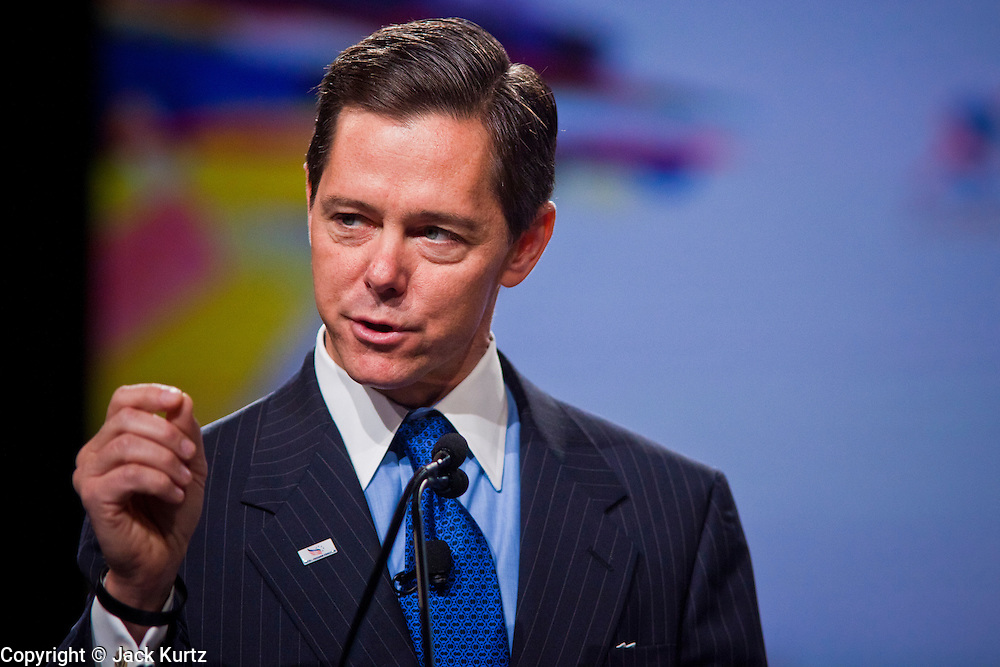 26 FEBRUARY 2011 - PHOENIX, AZ: Conservative icon RALPH REED speaks at the Tea Party Patriots American Policy Summit in Phoenix Saturday. The summit goes through Sunday Feb. 27. About 2,000 people are attending the event, which organizers said is meant to unite Tea Party groups across the country. Speakers include former Minnesota Governor Tim Pawlenty, Texas Congressman Ron Paul, former Clinton advisor Dick Morris and conservative blogger Andrew Brietbart. The event ends with a presidential straw poll Sunday.   Photo by Jack Kurtz