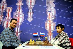 20-01-2009 SCHAKEN: CORUS CHESS: WIJK AAN ZEE<br /> Manuel Bosboom NED vs. Anish Giri RUS <br /> ©2009-WWW.FOTOHOOGENDOORN.NL