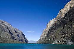 Lake Llanganuco (also known as Lag Chincacocha), Huascaran National Park, Cordillera Blanca range of the Andes, Peru, South America