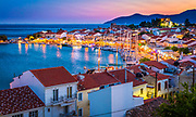 Sunset over the small town of Pythagoreio on the greek island of Samos. Pythagoreio or Pythagoreion and Pythagorion is a small town and former municipality on the island of Samos, North Aegean, Greece. It is the largest municipal unit in land area on Samos, at 164.662 km2 (63.576 sq mi). IThe town has designated a joint UNESCO World Heritage Site with nearby Heraion. The seat of the municipality was the town of Pythagoreio, formerly known as Tigani. The town was renamed in 1955 to honour the locally born mathematician and philosopher Pythagoras. The port of the town is considered to be the oldest man-made port of the Mediterranean Sea.