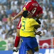 Brazil's with Turkey's Hakan SUKUR.<br /> Photo by Aykut AKICI/TurkSporFoto