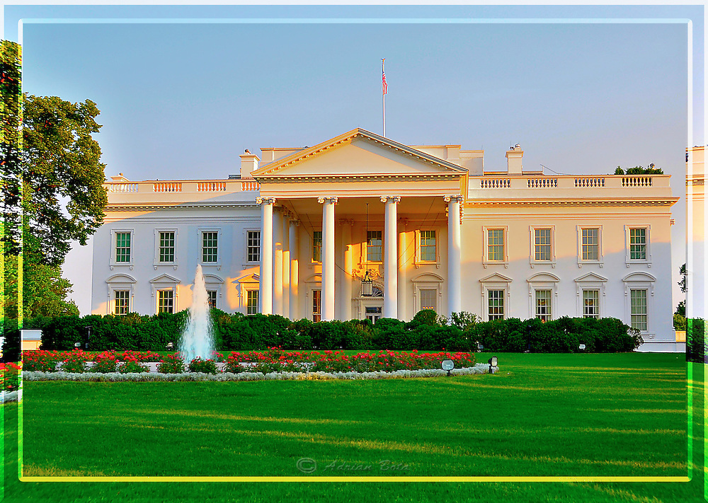 """The White House, Washington DC <br /> <br /> Lead Frame of a 3D Lenticular Series, Printable up to 24x36"""""""