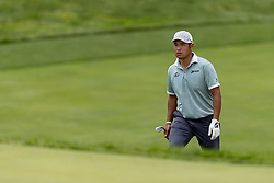 May 29, 2019 - Dublin, OH, U.S. - DUBLIN, OH - MAY 29: Hideki Matsuyama of Japan walks towards the 18th green during the Pro-Am of the Memorial Tournament presented by Nationwide at Muirfield Village Golf Club on May 30, 2018 in Dublin, Ohio. (Photo by Adam Lacy/Icon Sportswire) (Credit Image: © Adam Lacy/Icon SMI via ZUMA Press)