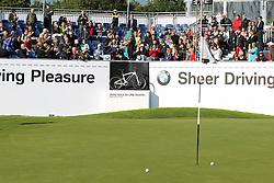 23.06.2015, Golfclub München Eichenried, Muenchen, GER, BMW International Golf Open, Show Event, im Bild Retief Goosen (RSA) schlaegt beim Show Event von der Tribuene ab // during the Show Event of BMW International Golf Open at the Golfclub München Eichenried in Muenchen, Germany on 2015/06/23. EXPA Pictures © 2015, PhotoCredit: EXPA/ Eibner-Pressefoto/ Kolbert<br /> <br /> *****ATTENTION - OUT of GER*****