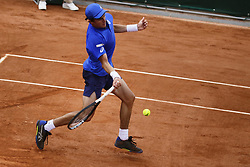 May 21, 2019 - Paris, France - Geoffrey Blancaneaux during the match between Geoffrey Blancaneaux of FRA vs Andrea Arnaboldi of ITA in the first round qualifications of 2019 Roland Garros, in Paris, France, on May 21, 2019. (Credit Image: © Ibrahim Ezzat/NurPhoto via ZUMA Press)