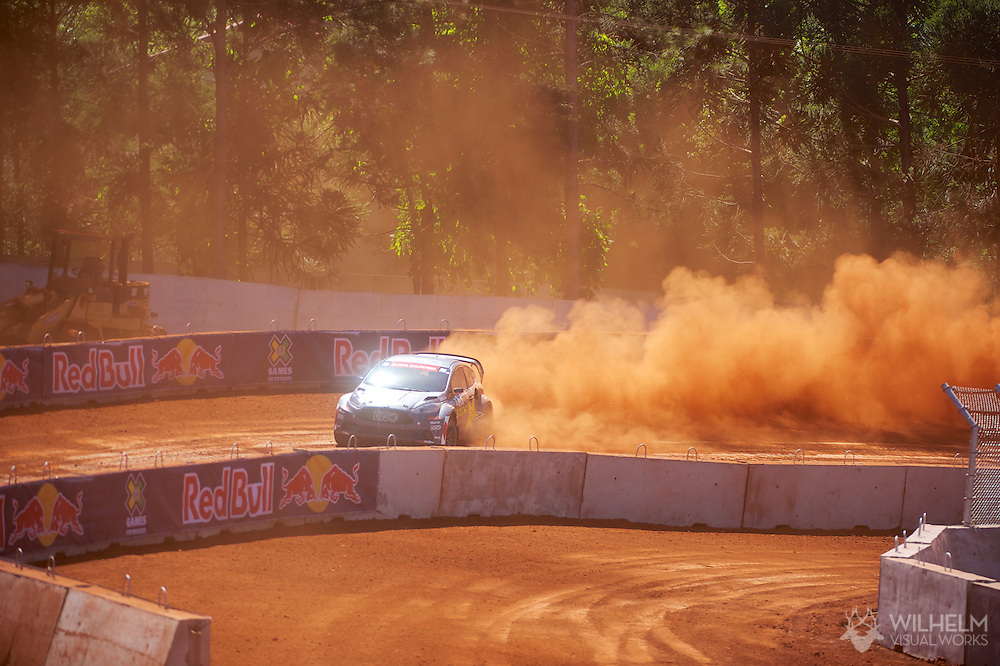 Tanner Foust during RallyCross Practice at the 2013 X Games Foz do Iguacu in Foz do Iguaçu, Brazil. ©Brett Wilhelm/ESPN